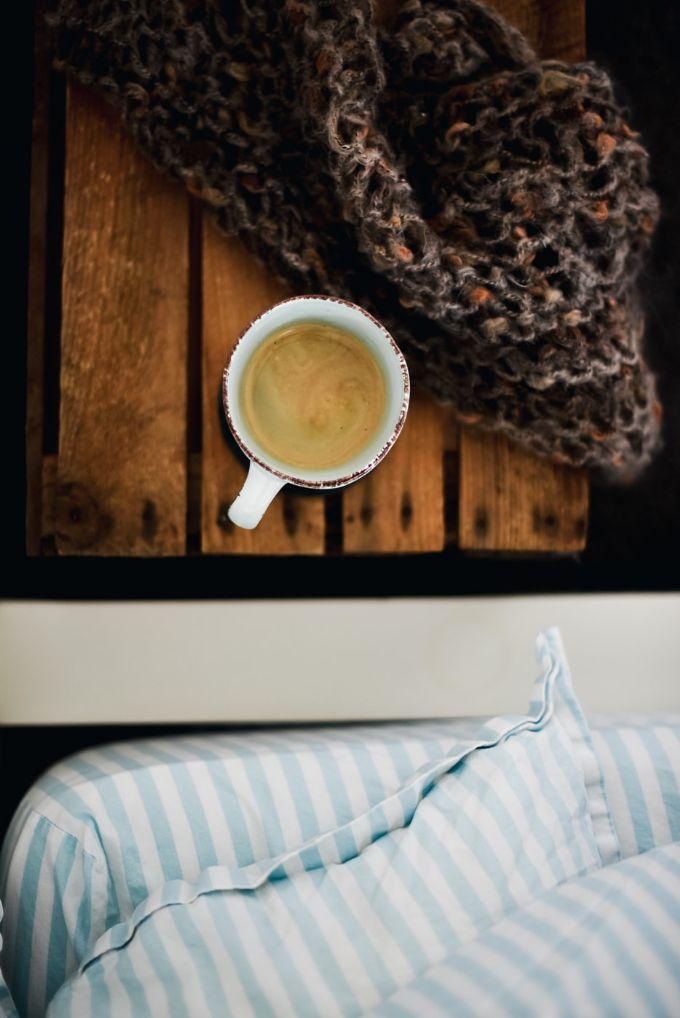 Avoid caffeine six hours before going to sleep