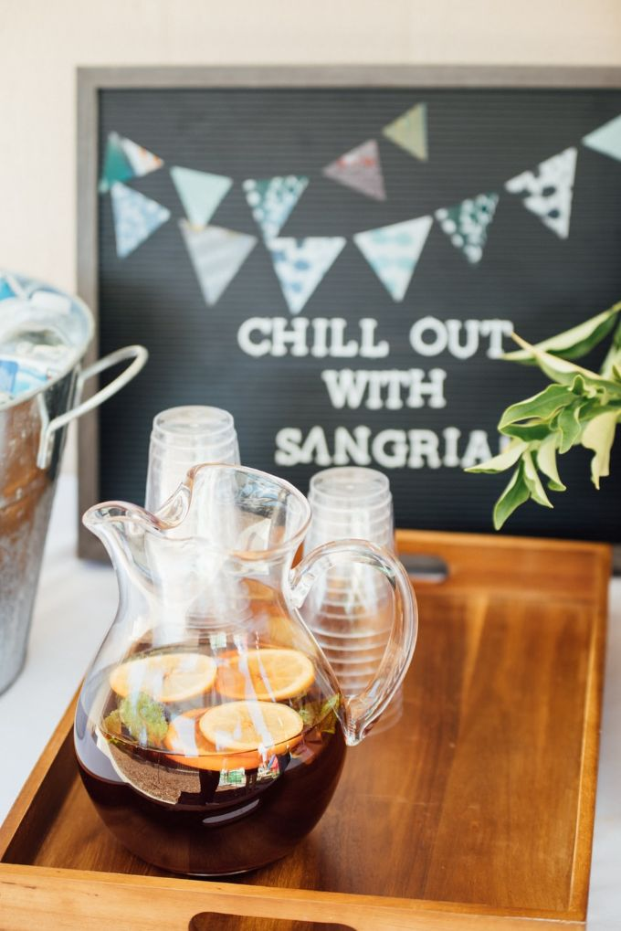 Enjoy tequila with sangria