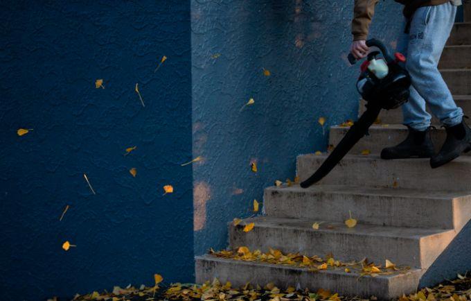 Use leaf blowers