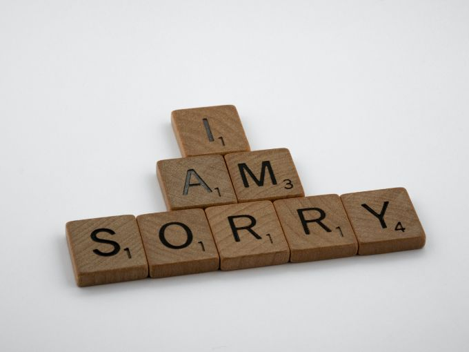 Apologize sincerely